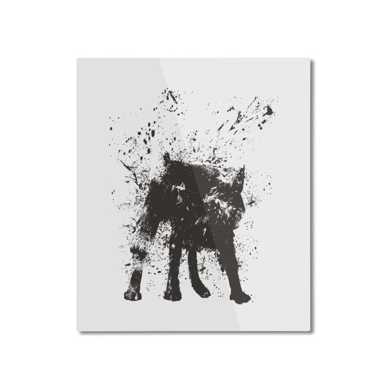 Wet dog Home Mounted Aluminum Print by Balazs Solti