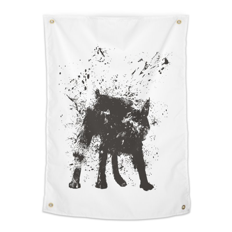 Wet dog Home Tapestry by Balazs Solti