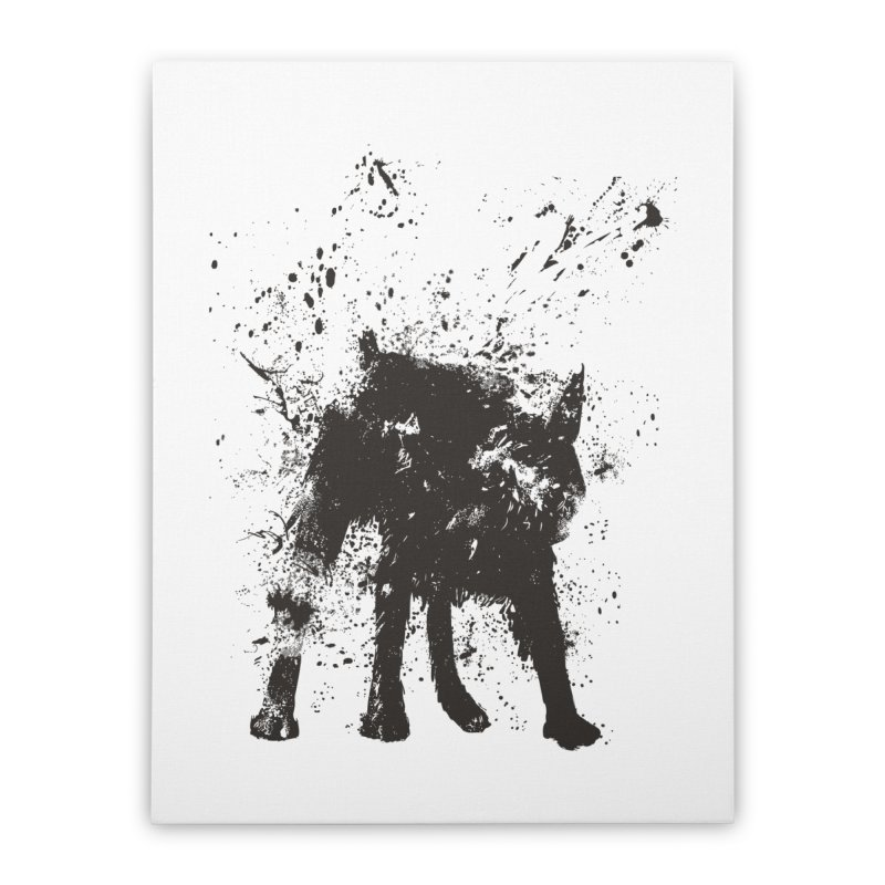 Wet dog Home Stretched Canvas by Balazs Solti