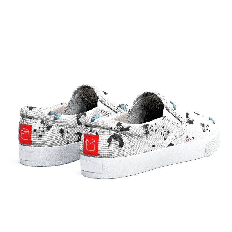 Panda pattern Men's Shoes by Balazs Solti