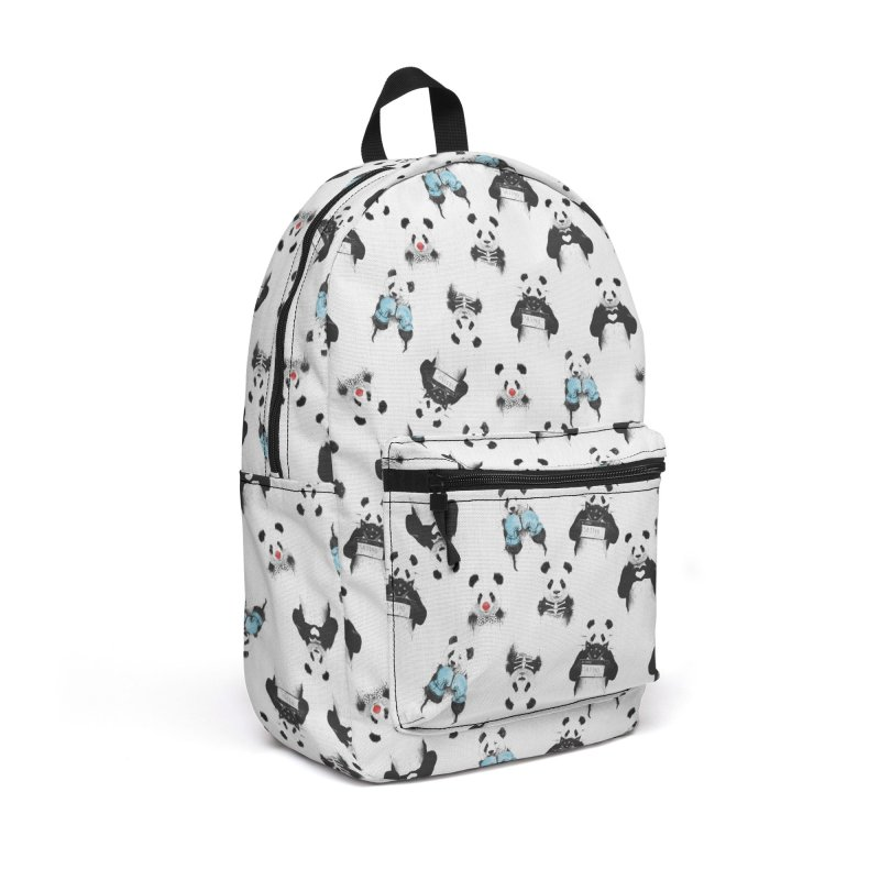 Panda pattern Accessories Backpack Bag by Balazs Solti