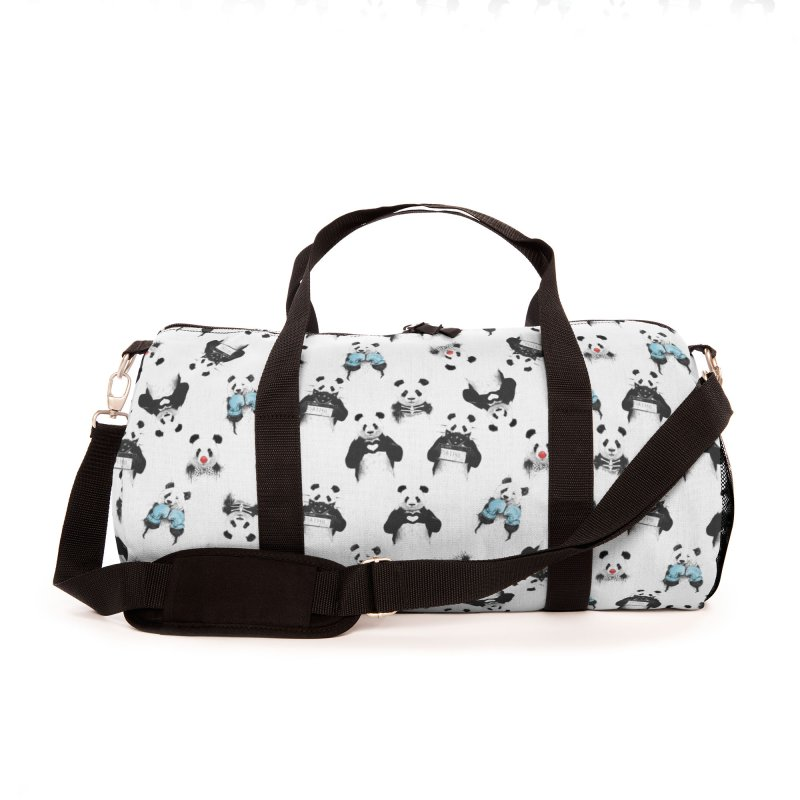 Panda pattern Accessories Bag by Balazs Solti