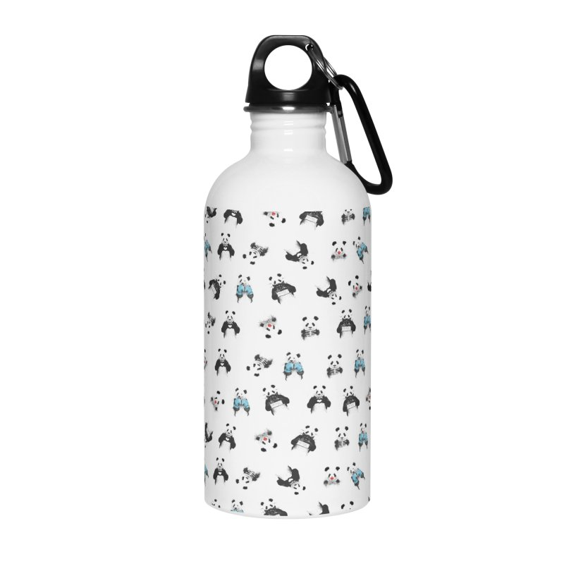 Panda pattern Accessories Water Bottle by Balazs Solti