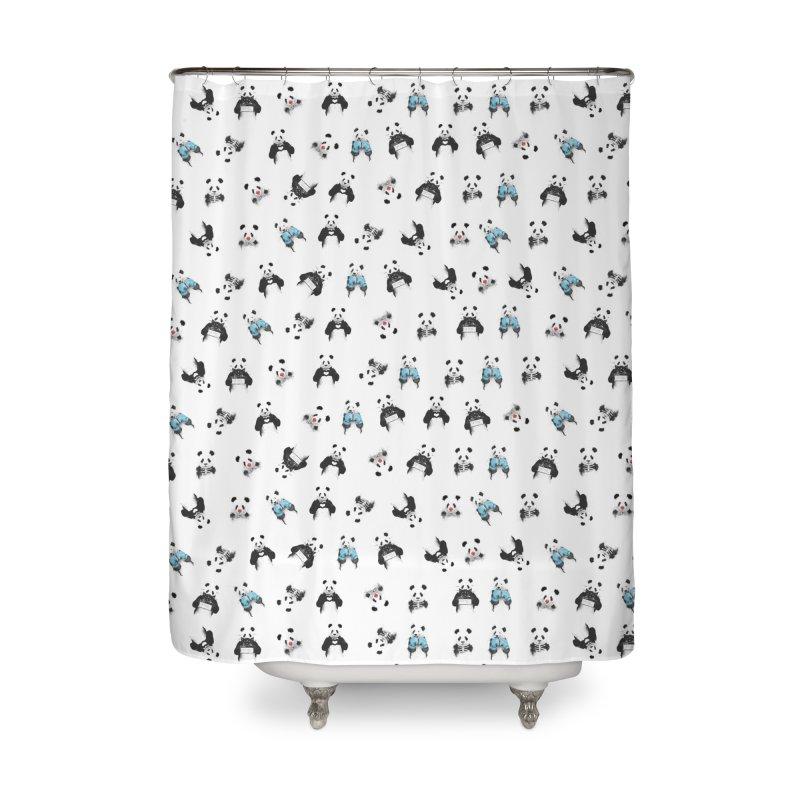 Panda pattern Home Shower Curtain by Balazs Solti
