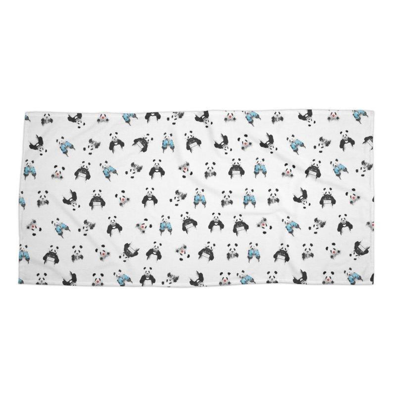 Panda pattern Accessories Beach Towel by Balazs Solti
