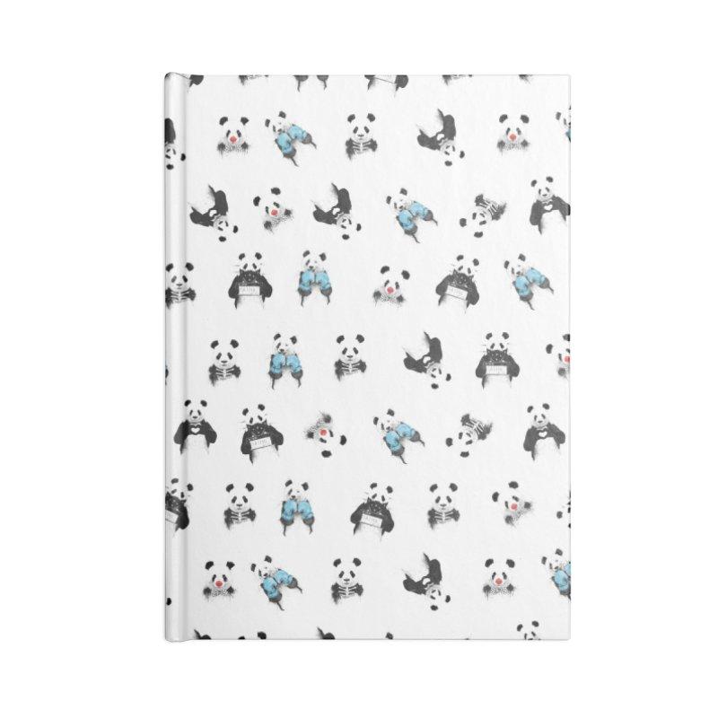 Panda pattern Accessories Notebook by Balazs Solti