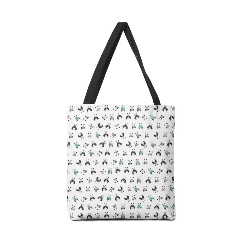 Panda pattern Accessories Tote Bag Bag by Balazs Solti