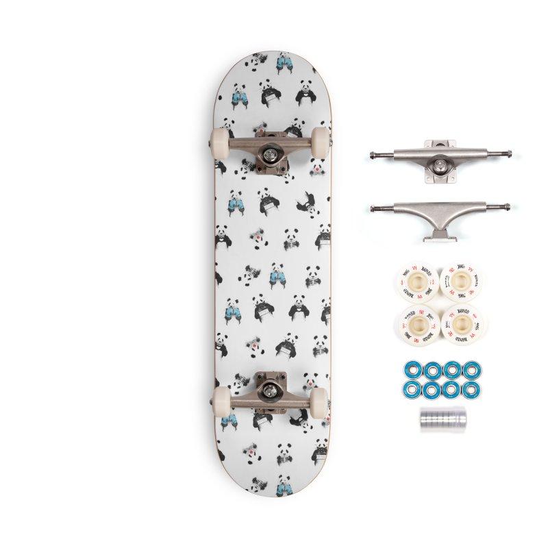 Panda pattern Accessories Complete - Premium Skateboard by Balazs Solti