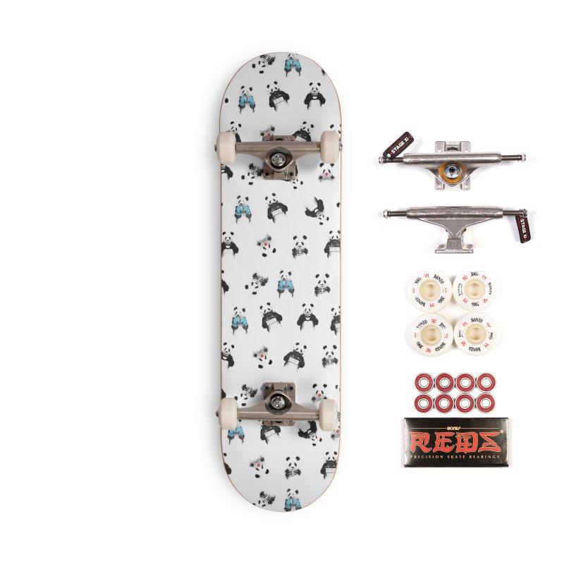 Panda pattern Accessories Complete - Pro Skateboard by Balazs Solti