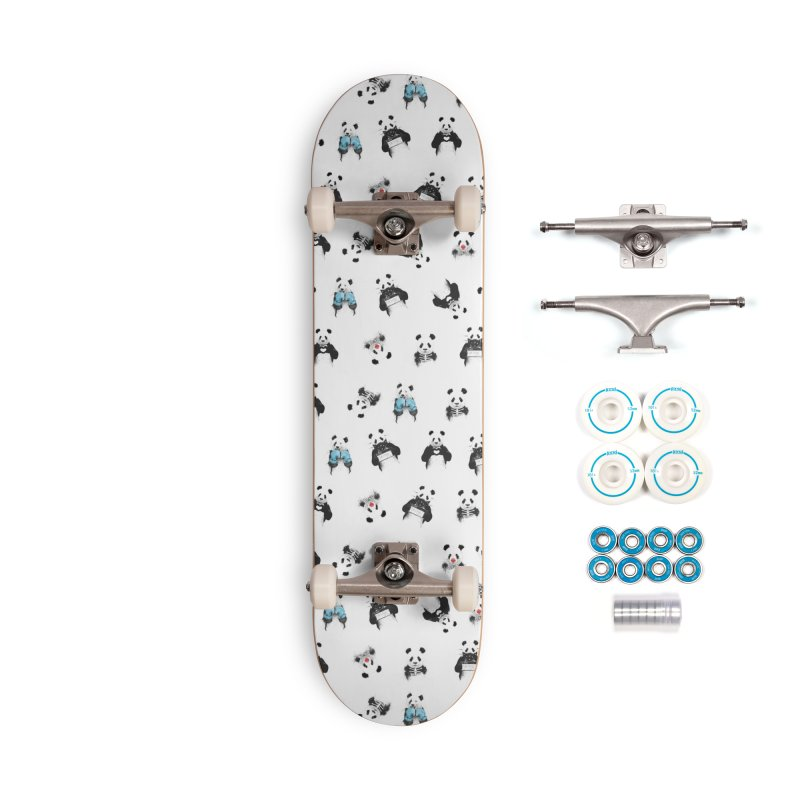 Panda pattern Accessories Complete - Basic Skateboard by Balazs Solti