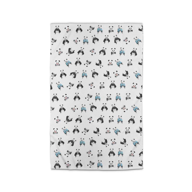 Panda pattern Home Rug by Balazs Solti