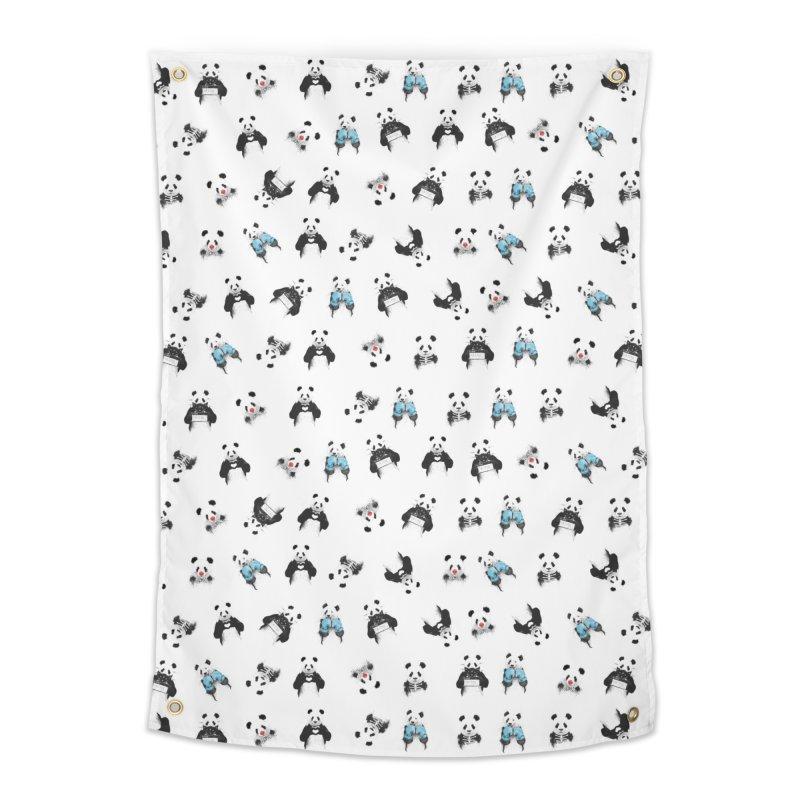 Panda pattern Home Tapestry by Balazs Solti