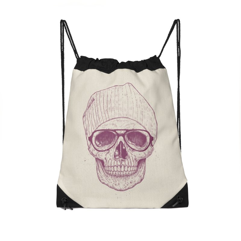 Cool skull Accessories Drawstring Bag Bag by Balazs Solti