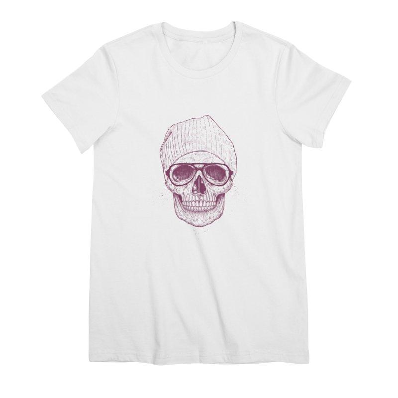 Cool skull Women's Premium T-Shirt by Balazs Solti
