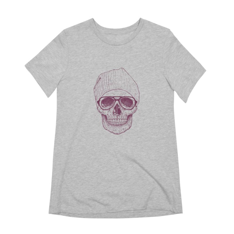 Cool skull Women's Extra Soft T-Shirt by Balazs Solti