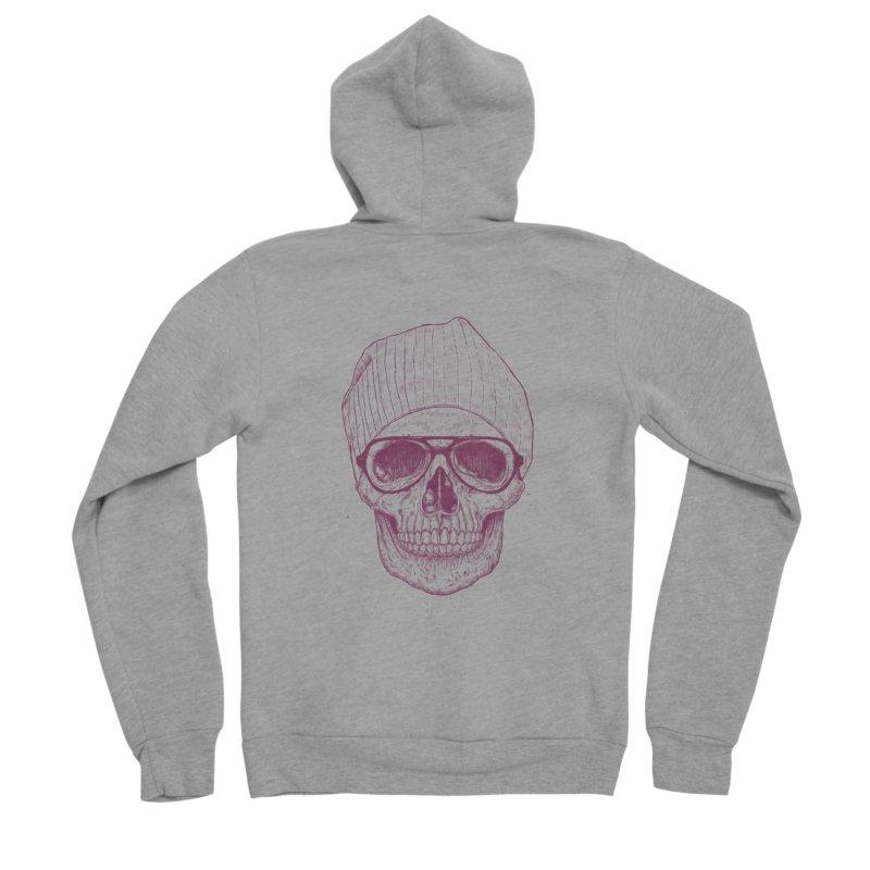 Cool skull Men's Sponge Fleece Zip-Up Hoody by Balazs Solti