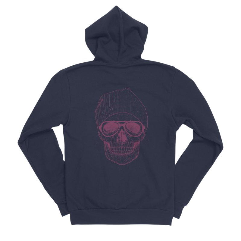 Cool skull Men's Sponge Fleece Zip-Up Hoody by Balazs Solti