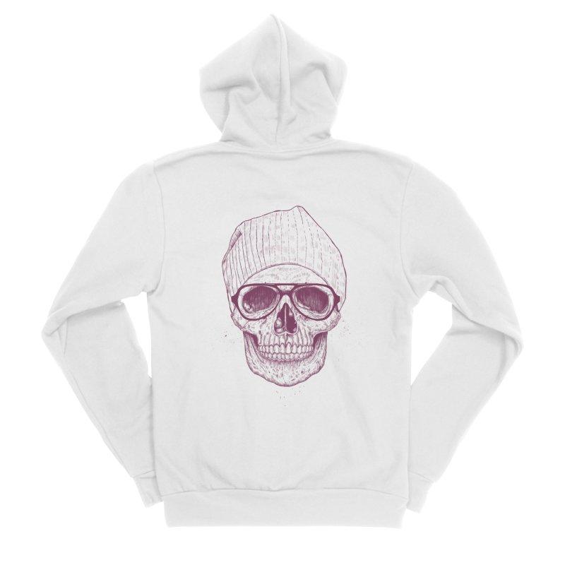 Cool skull Women's Sponge Fleece Zip-Up Hoody by Balazs Solti