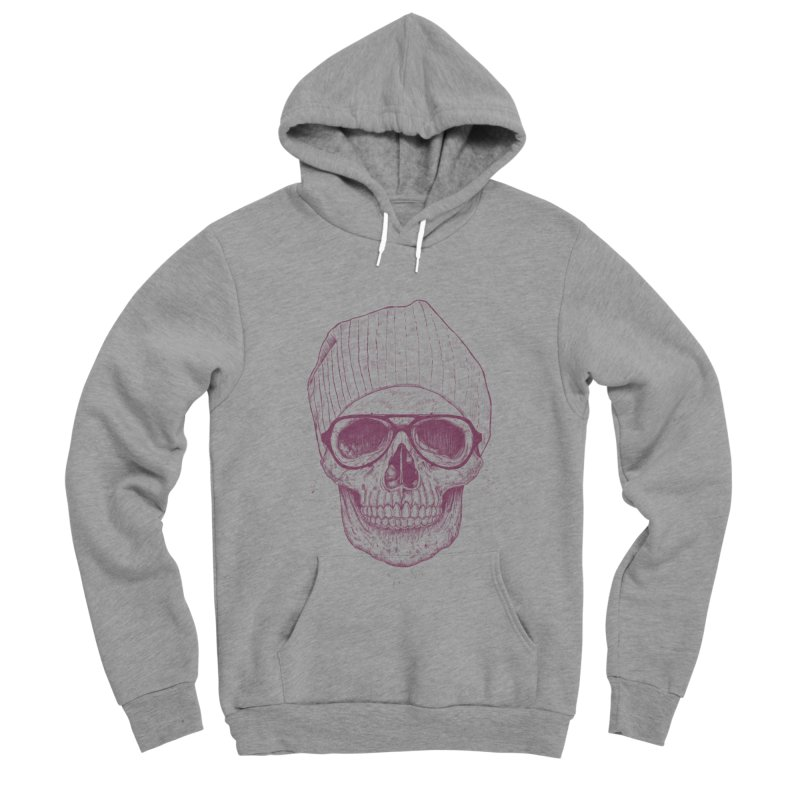 Cool skull Men's Sponge Fleece Pullover Hoody by Balazs Solti