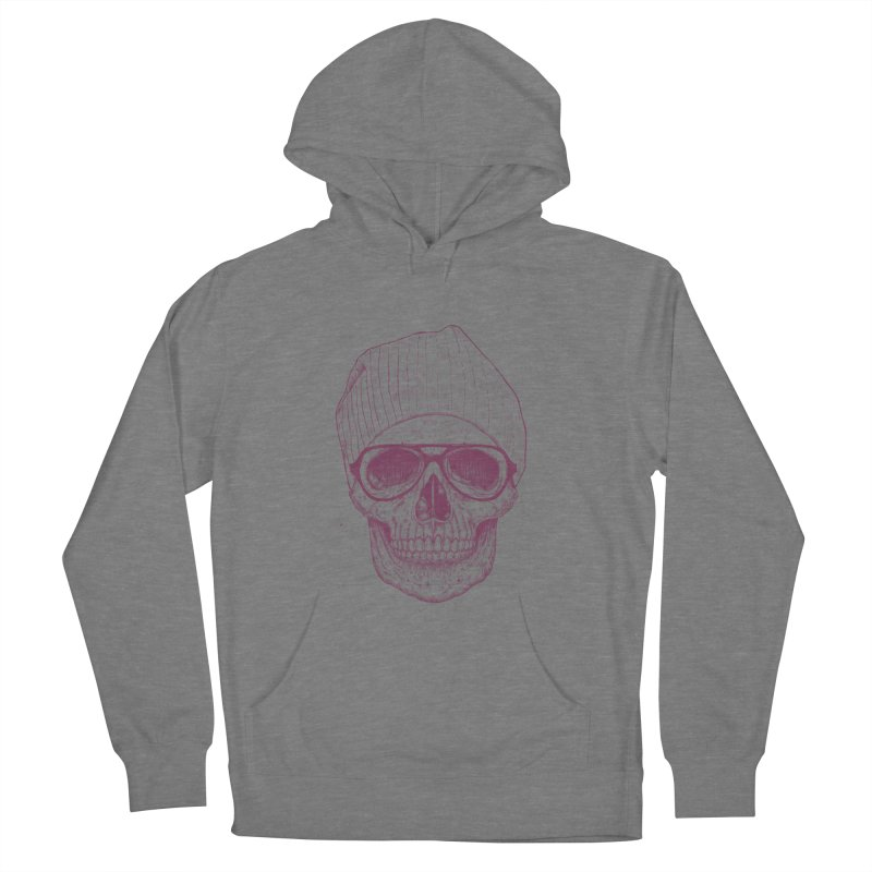 Cool skull Men's French Terry Pullover Hoody by Balazs Solti