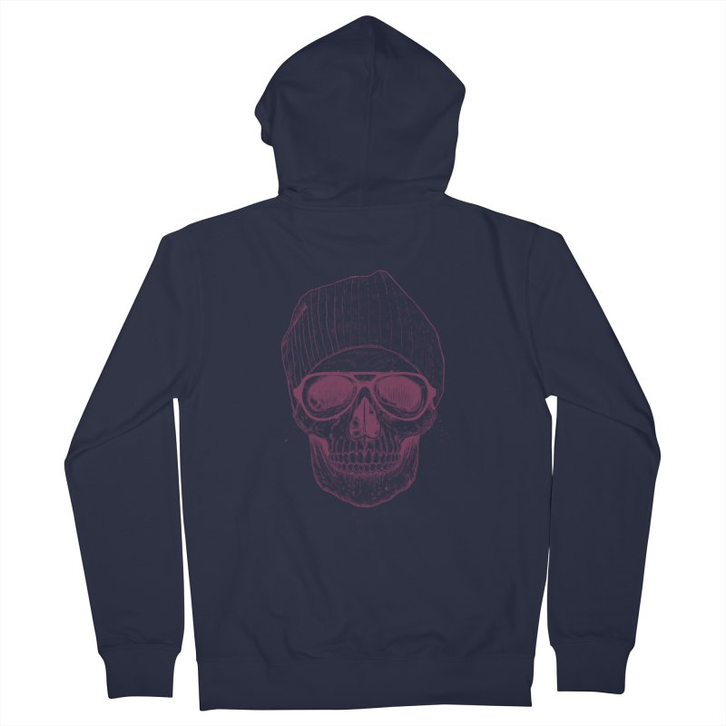Cool skull Men's French Terry Zip-Up Hoody by Balazs Solti