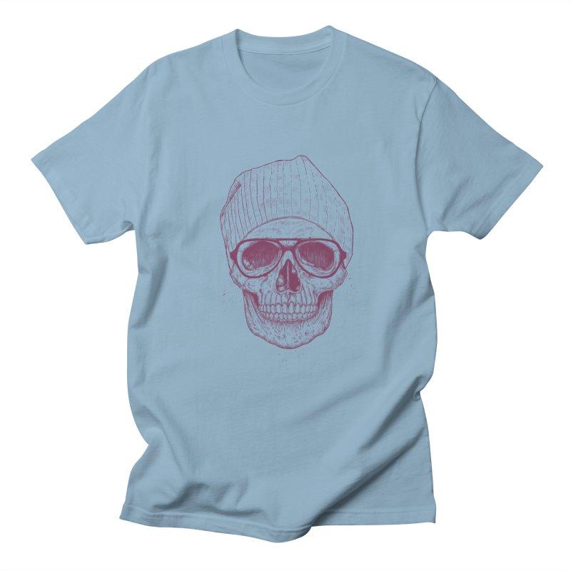 Cool skull Men's Regular T-Shirt by Balazs Solti