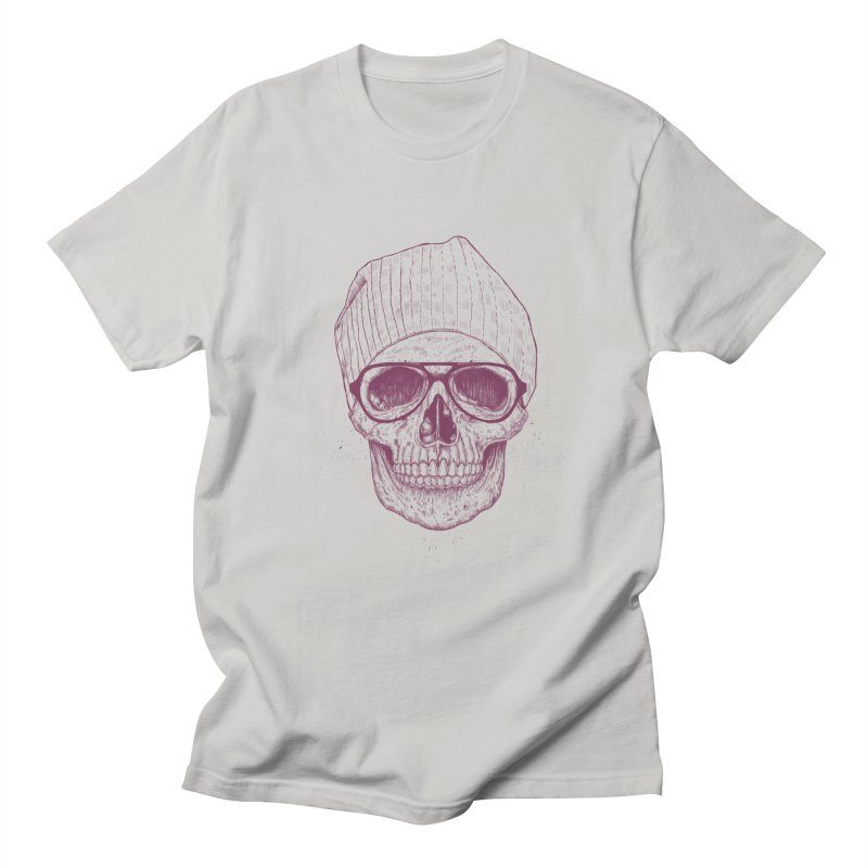 Cool skull Men's Regular T-Shirt by Balazs Solti