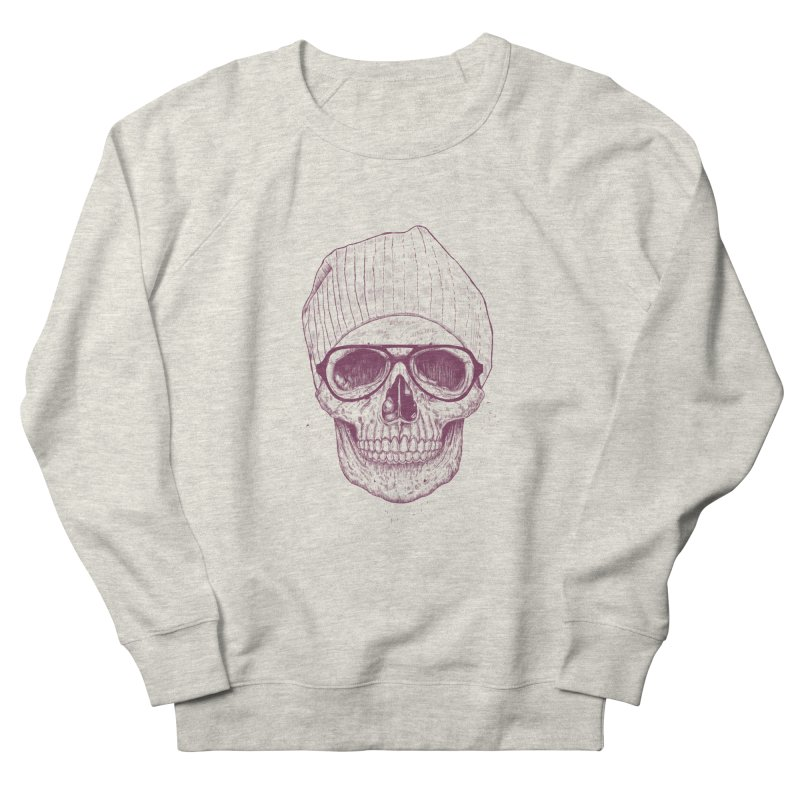 Cool skull Women's French Terry Sweatshirt by Balazs Solti