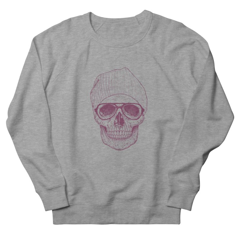 Cool skull Men's French Terry Sweatshirt by Balazs Solti