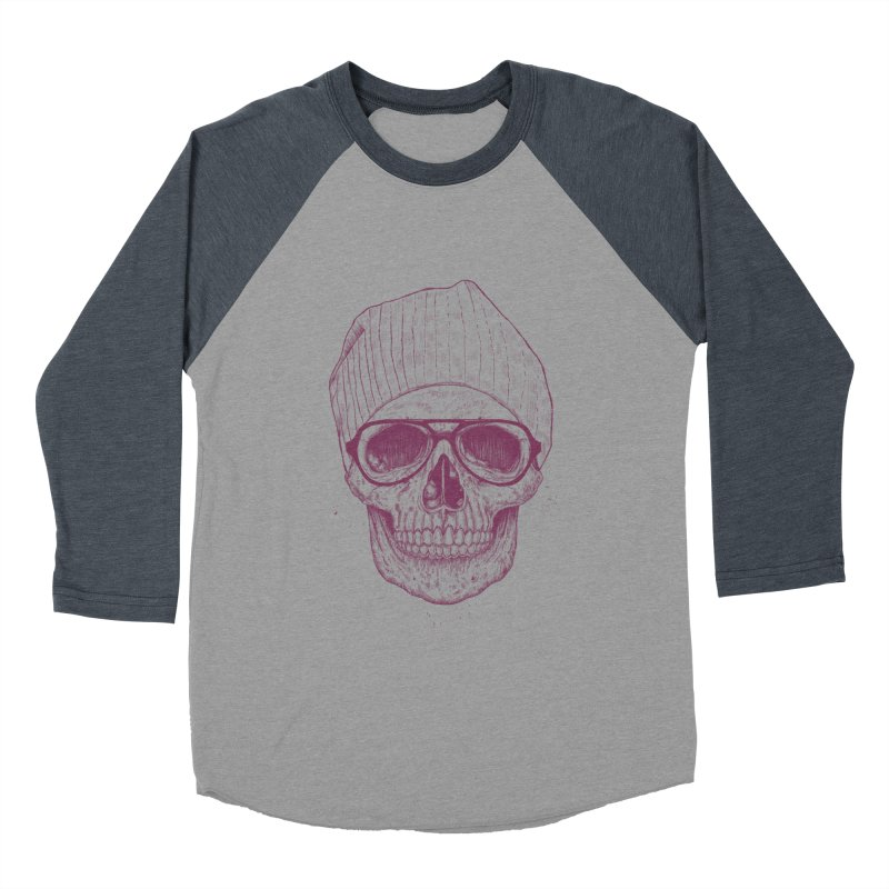 Cool skull Men's Baseball Triblend Longsleeve T-Shirt by Balazs Solti