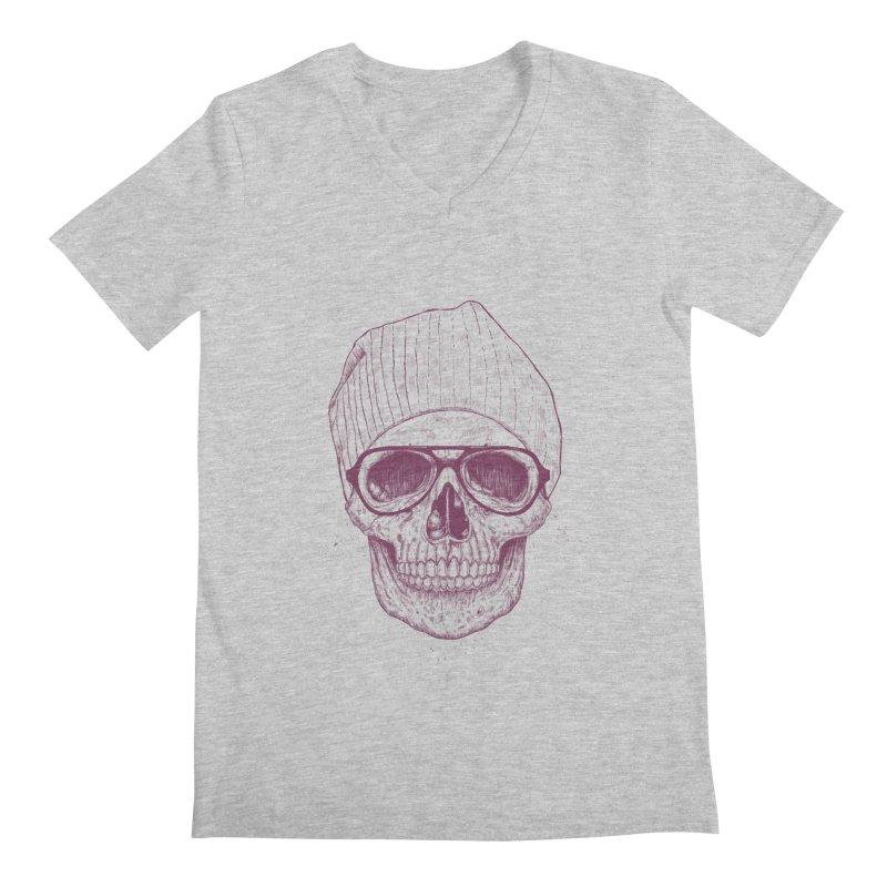 Cool skull Men's Regular V-Neck by Balazs Solti