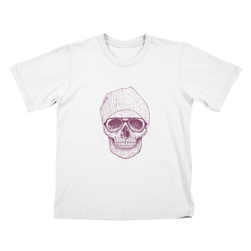 Cool skull Kids T-Shirt by Balazs Solti