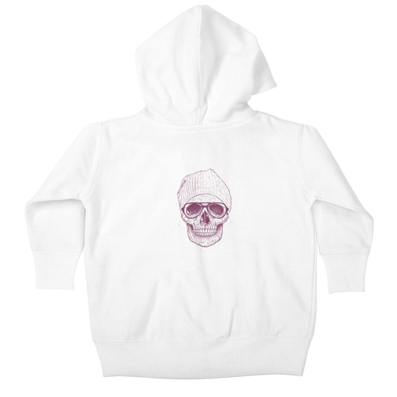 Cool skull Kids Baby Zip-Up Hoody by Balazs Solti