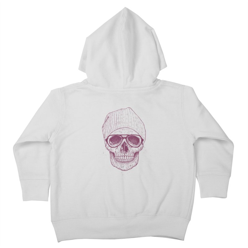 Cool skull Kids Toddler Zip-Up Hoody by Balazs Solti