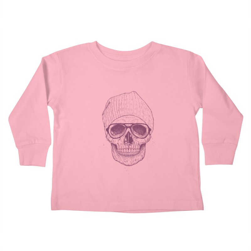 Cool skull Kids Toddler Longsleeve T-Shirt by Balazs Solti