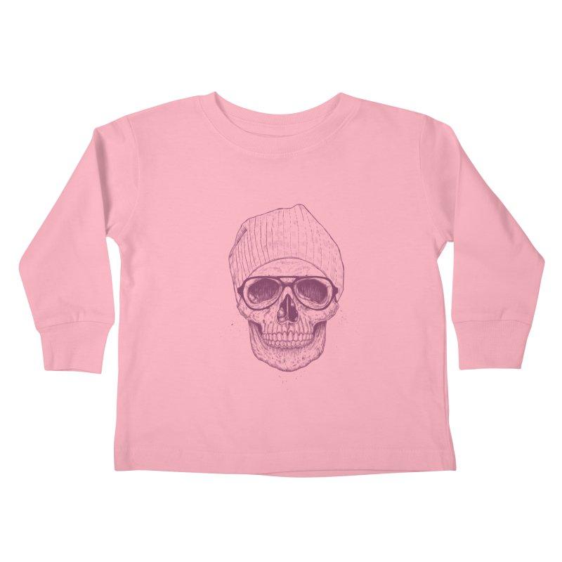 Cool skull Kids Toddler Longsleeve T-Shirt by Balazs Solti