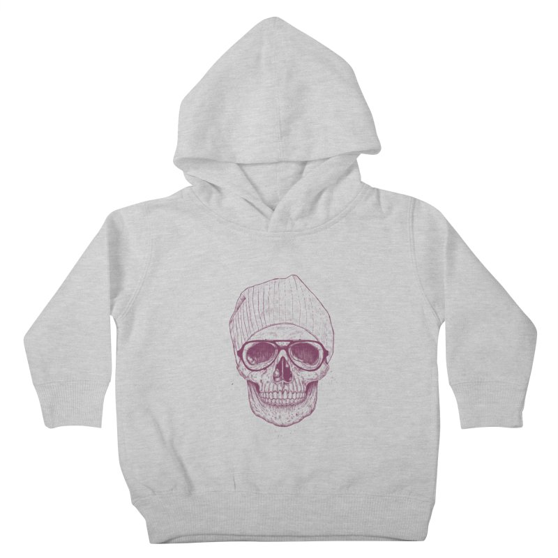 Cool skull Kids Toddler Pullover Hoody by Balazs Solti