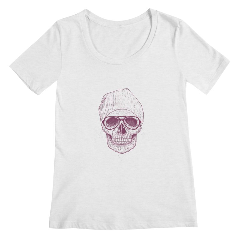 Cool skull Women's Regular Scoop Neck by Balazs Solti