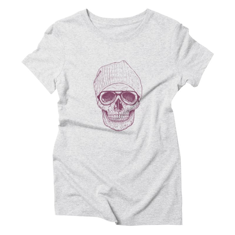 Cool skull Women's Triblend T-Shirt by Balazs Solti