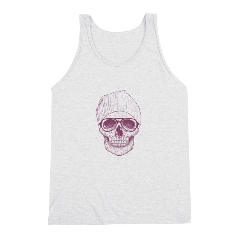 Cool skull Men's Triblend Tank by Balazs Solti