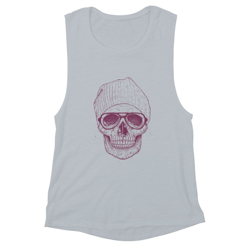 Cool skull Women's Muscle Tank by Balazs Solti
