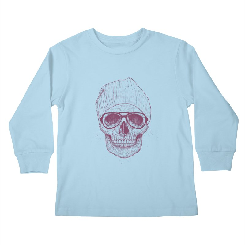 Cool skull Kids Longsleeve T-Shirt by Balazs Solti