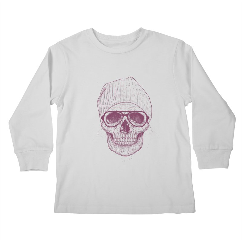 Cool skull Kids Longsleeve T-Shirt by Balazs Solti