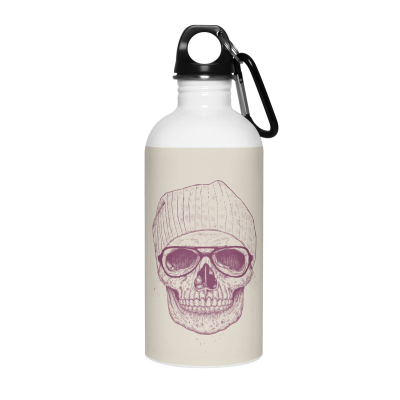 Cool skull Accessories Water Bottle by Balazs Solti