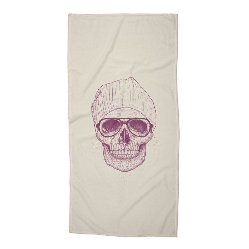 Cool skull Accessories Beach Towel by Balazs Solti