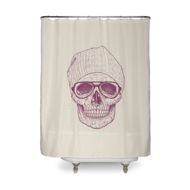 Cool skull Home Shower Curtain by Balazs Solti