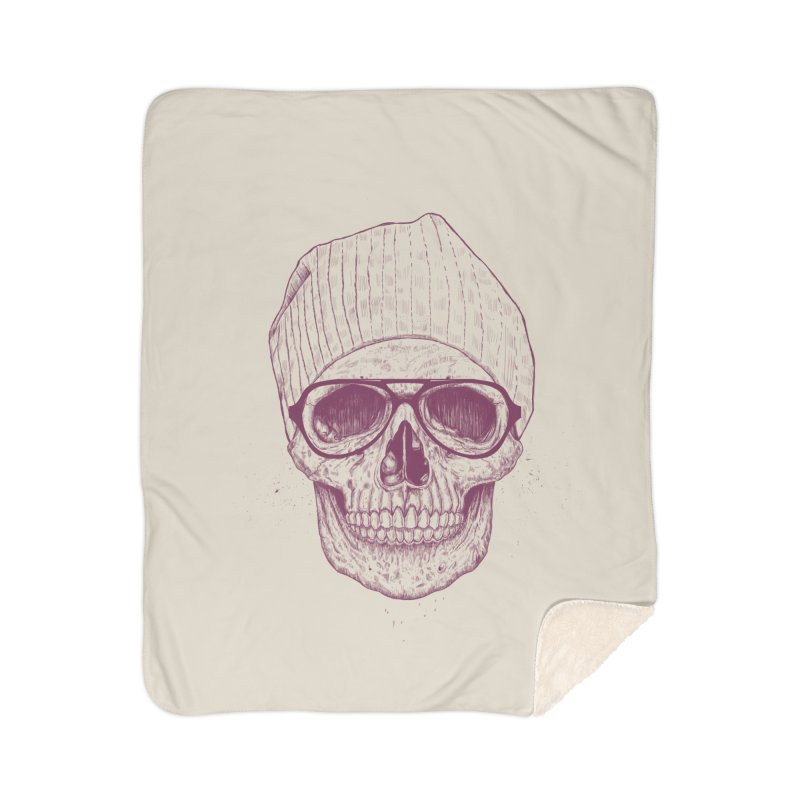 Cool skull Home Sherpa Blanket Blanket by Balazs Solti