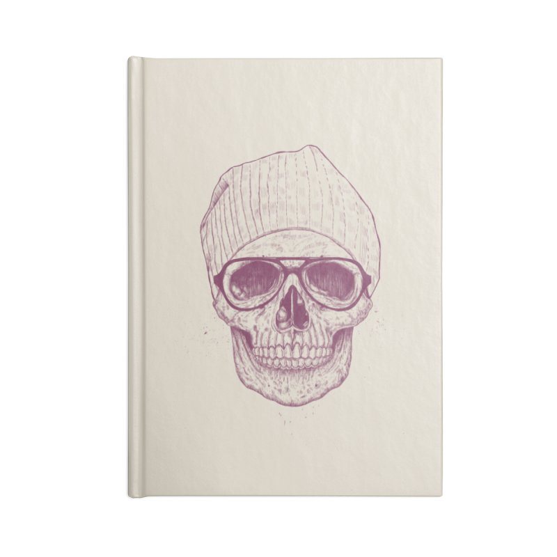 Cool skull Accessories Lined Journal Notebook by Balazs Solti