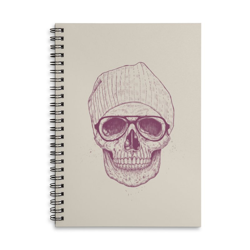 Cool skull Accessories Lined Spiral Notebook by Balazs Solti