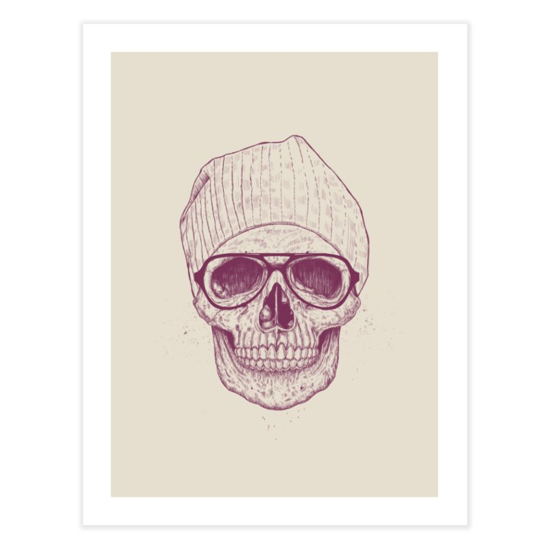 Cool skull Home Fine Art Print by Balazs Solti